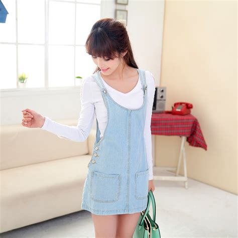 Noely Skirt Overall Light Blue fashion all match denim jumpsuit skirt light blue side button suspenders jumpsuit