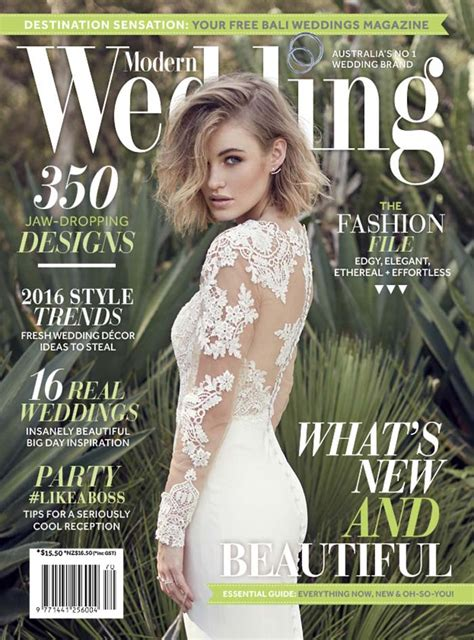 Top Wedding Magazines by Modern Wedding Autumn 2016 Magazine On Sale