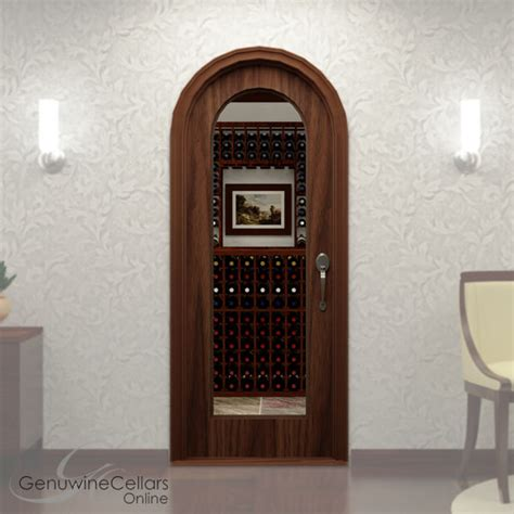 wine cellar glass doors arched glass single wine cellar door