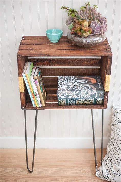 diy crate furniture get the bedside table even if you don t the space huffpost