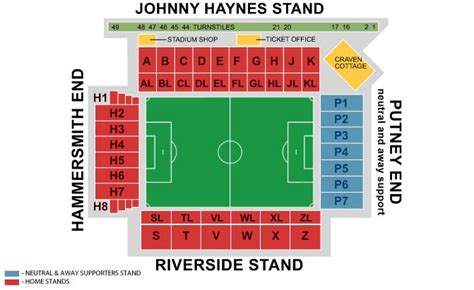 craven cottage seating plan tickets f 252 r fulham fc in