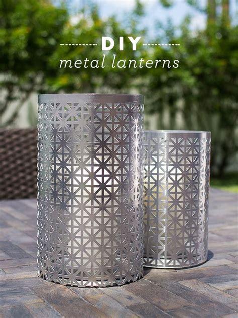 diy outdoor metal lantern garden lanterns metal