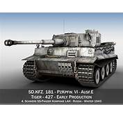 Panzer VI  Tiger 427 Early Production 3D Model OBJ