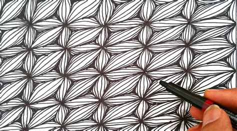 youtube pattern design how to draw a easy quot flower optical illusion pattern