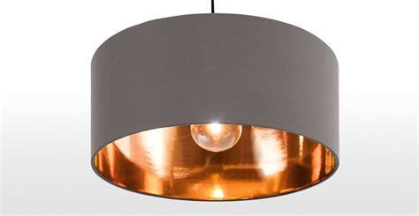 light gray shades grey and copper ceiling pendant l shade hue made com