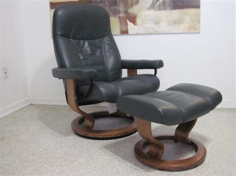 ekornes stressless recliner chair modern leather medium