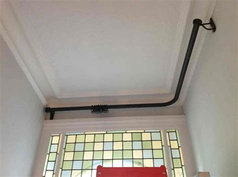 curtain pole bend 17 best images about hallwright bay window curtain poles