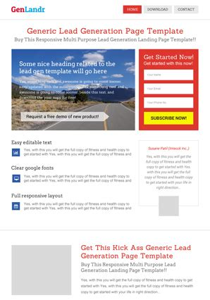 Wordpress Landing Page Templates Themes By Wplanders Com Lead Landing Page Template