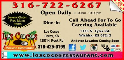 printable restaurant coupons wichita ks los cocos mexican restaurant wichita ks 67212 3243