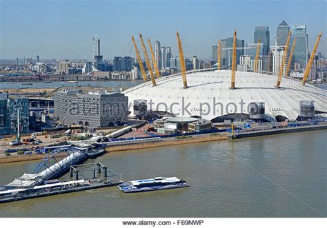 thames river view emirates greenwich peninsula stock photos emirates