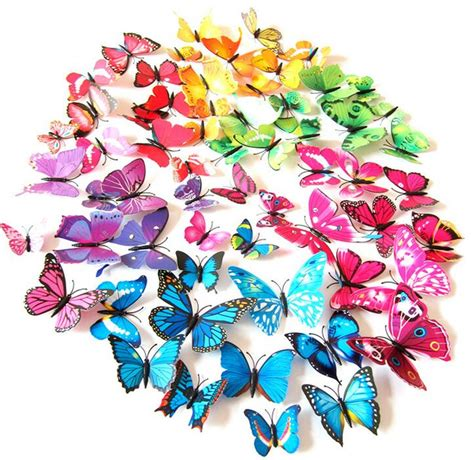 12 pcs 3d diy wall 12 pcs lot pvc 3d diy butterfly wall stickers home decor