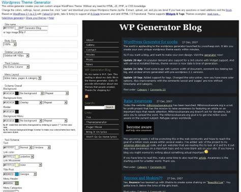 wp theme generator online crea tu theme de wordpress propio gratis bitsignals