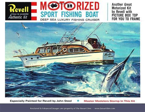 sport fishing boat scale model revell sport fishing boat 61 box model kits box art