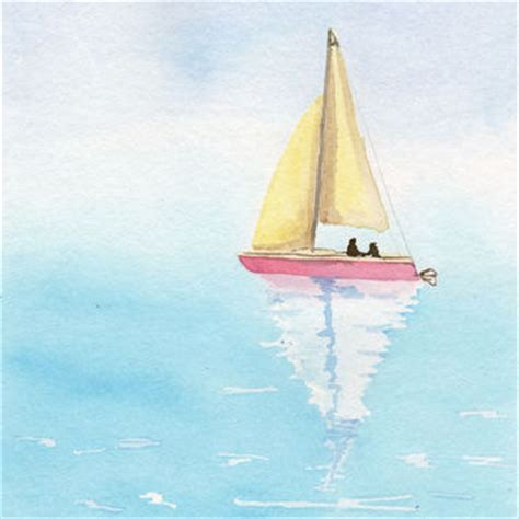 sailing boat watercolour shop watercolor paintings of boats on wanelo