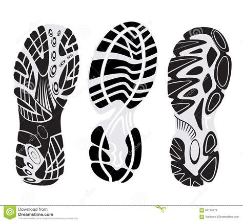 running shoe print vector footprint vector stock vector image 61185779