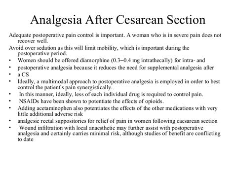 suppository after c section cesarean section hennawy
