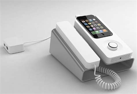 desk phone dock for the iphone technabob
