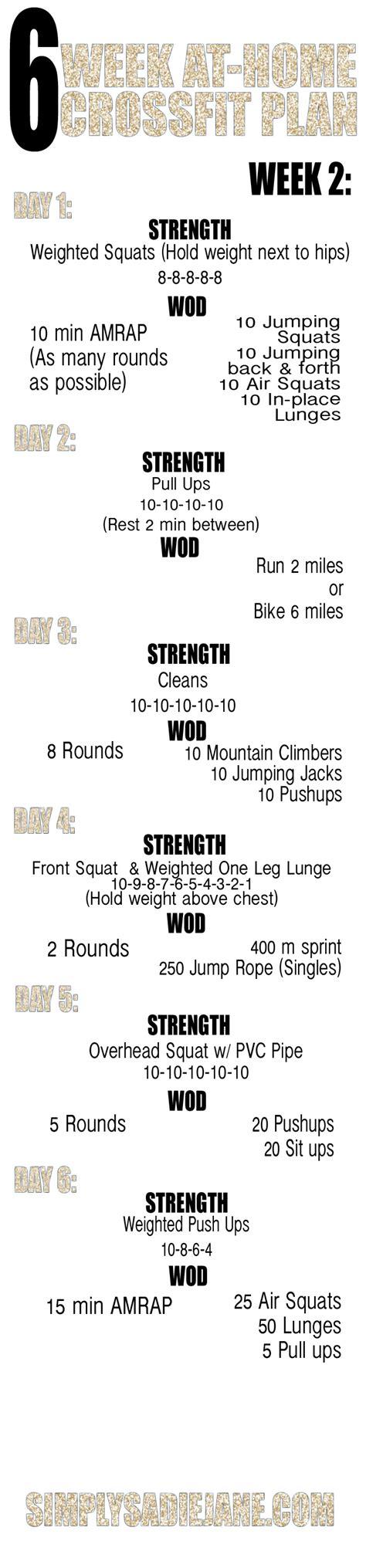 6 week at home crossfit inspired workouts week 1 6 week at home crossfit inspired workouts week 1