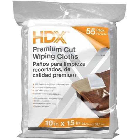 home depot paint rags hdx 55 count 10 in x 15 in exact cut wiping cloths 4