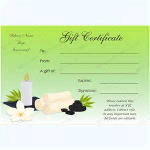 Spa Gift Certificate Template by Spa Gift Certificate Templates 100 Spa And Saloon Designs