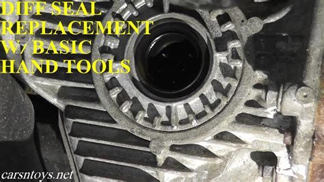 differential seal replacement  basic hand tools youtube