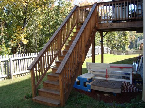 photo of deck stair railing wood deck stair railing