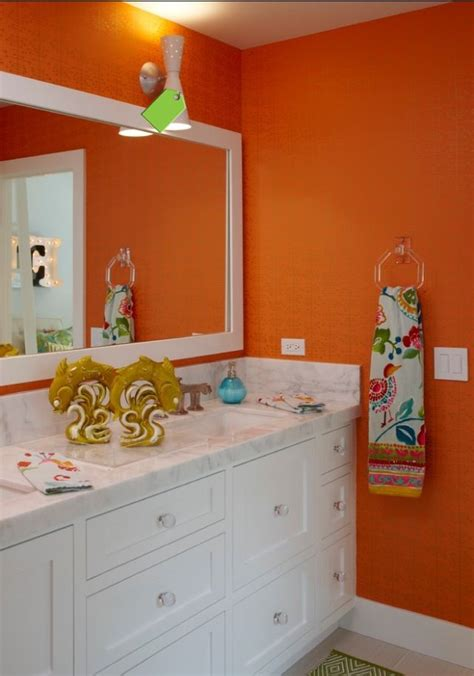 orange and grey bathroom 17 best images about bathrooms in orange on pinterest