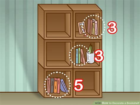 4 ways to decorate a bookshelf wikihow