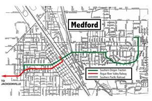 Map Of Medford Oregon by Medford Jacksonville Streetcar System