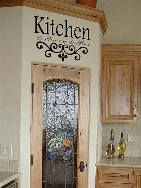 kitchen vinyl wall decal kitchen  heart   home