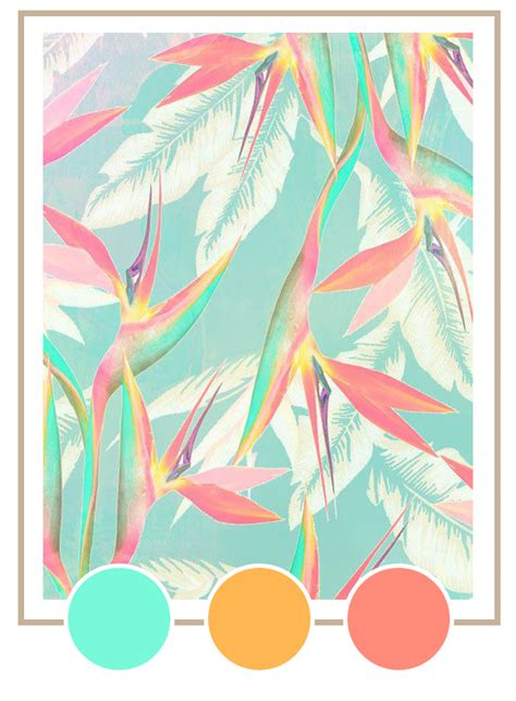tropical colours my summer color palette vintage tropical coco kelley