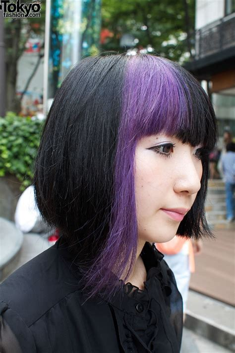black n purple hair black and purple hair www imgkid com the image kid has it
