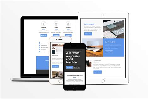 Responsive Html Email Template Email Templates On Creative Market Responsive Email Template