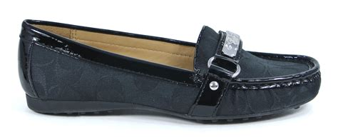 coach felisha loafer coach signature felisha black loafers slip on shoes 11 new