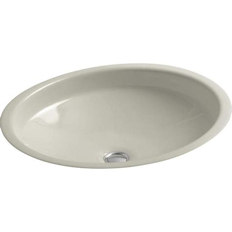 kohler cast iron bathroom sink shop kohler canvas sandbar cast iron undermount oval
