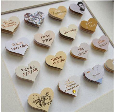 50th Wedding Anniversary Gift // 16 hearts // Golden
