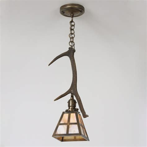 brass light gallery antler windowpane pendant from brass light gallery