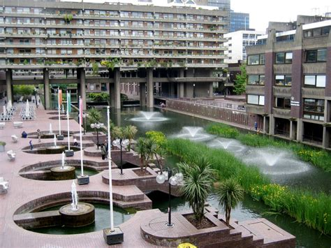 barbican section cross section of the barbican in london by chamberlin