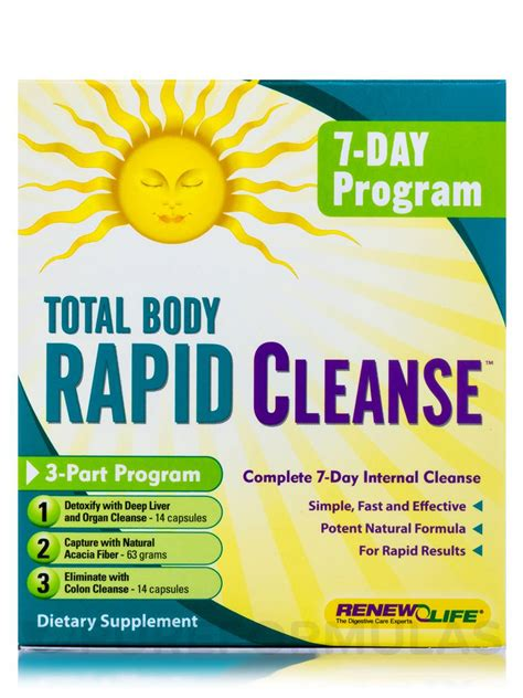 7 Day Detox by Total Rapid Cleanse 7 Day 3 Part Kit