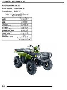 polaris 2008 atv sportsman 500 500 efi x2 touring