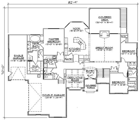 single story house floor plans plan w69022am northwest northwest style house plans 2407 square foot home 1