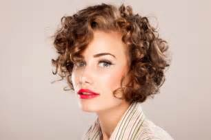 Short haircuts for curly hair with bangs