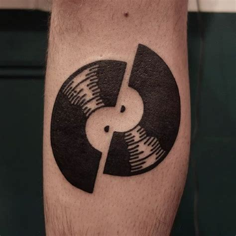 vinyl tattoo 360 best dj tattoos images on tattoos