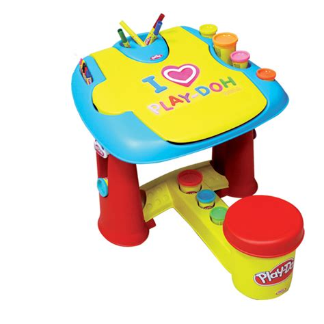 Book Storage Kids play doh my first desk with 20 piece accessory pack