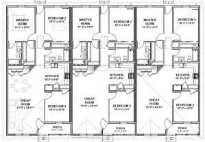 Triplex Floor Plans by Triplex House Plans 1 387 S F Ea Unit 3 Beds 2 Ba