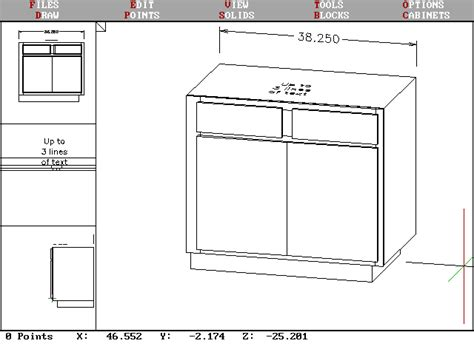 draw kitchen cabinets cab screen