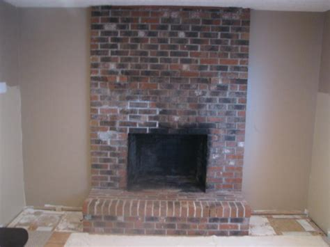 redoing brick fireplace brick fireplace makeover before and after