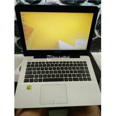 Laptop Asus Second Di Bandung laptop asus x455ld white second intel i5 haswell ram 4gb