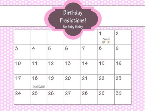 Calendrier Dr Who Printable Due Date Calendar Baby Shower Guess