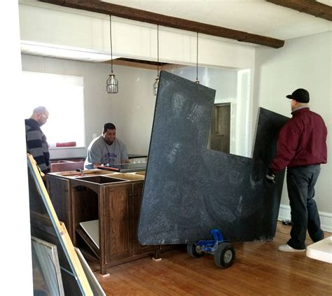 Countertop Installation Leathered Granite Counter Tops Christinas Adventures